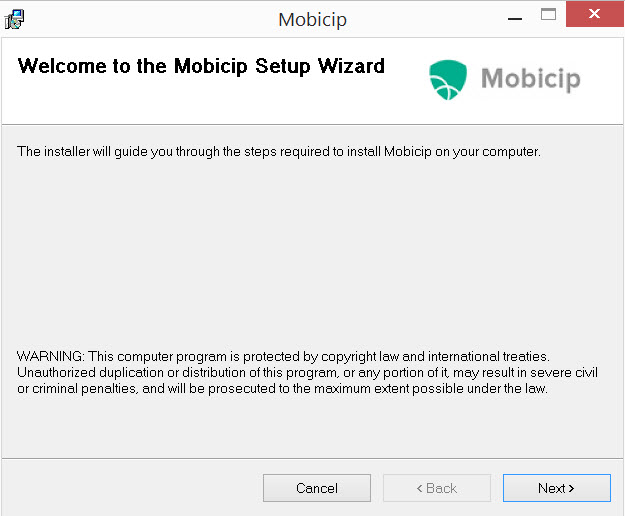 Mobicip Installation Wizard Step 3