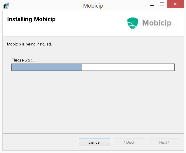 Mobicip Installer Screen 2