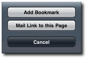 Forward link by email screenshot