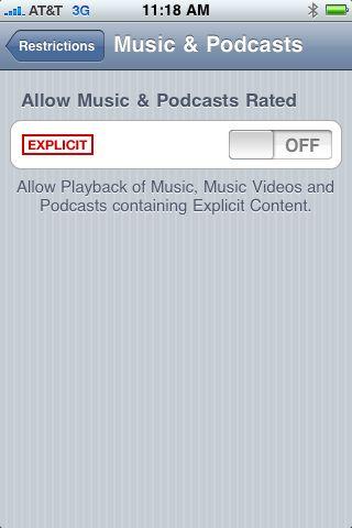 Block explicit content