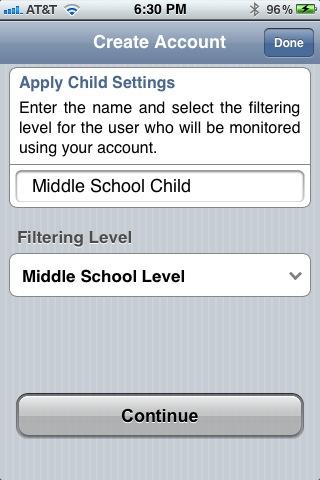 Set filtering level