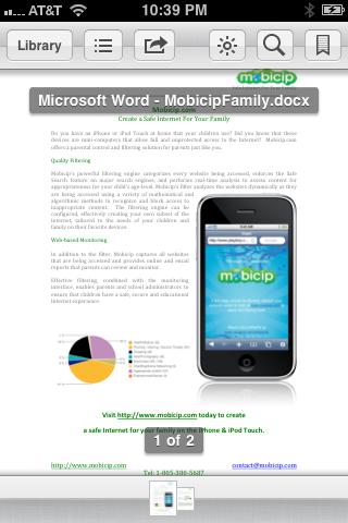 Opened file in iBooks - screenshot