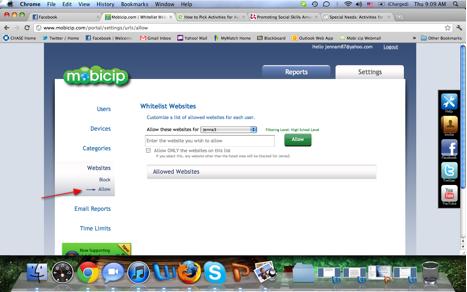 Mobicip report setup