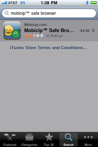 Select Mobicip from search results