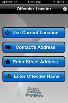 offender locator app